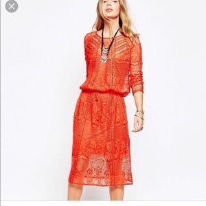 Worn once Free People Luna Lace Dress w/ slip